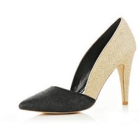 River Island Glitter Asymmetric Court Shoes